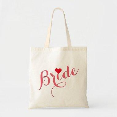 Bride Wedding  Elegant Slim Tote Bag
