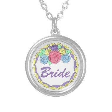 Bride Wedding Cake  Gift Necklace