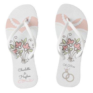 Bride Wedding Custom Flip Flops