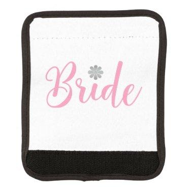 Bride-with-gold-flower-pink2 Luggage Handle Wrap