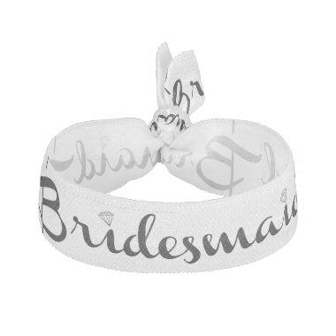 Bridesmaid Black Elastic Hair Tie