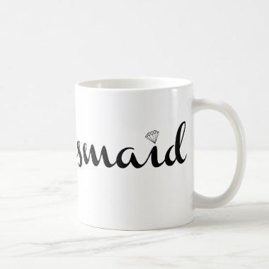 Bridesmaid Black on White Coffee Mug