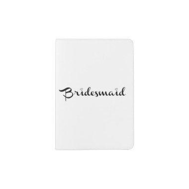 Bridesmaid Black Passport Holder