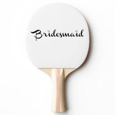Bridesmaid Black Ping-Pong Paddle