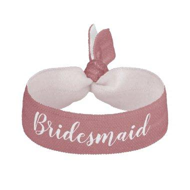 Bridesmaid Deep Red White Wedding Party Gift Elastic Hair Tie