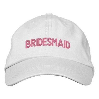 Bridesmaid Embroidered Baseball Hat