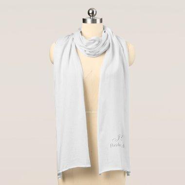 Bridesmaid Monogram Knit Scarf