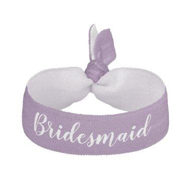 Bridesmaid Purple White Wedding Party Gift Elastic Hair Tie