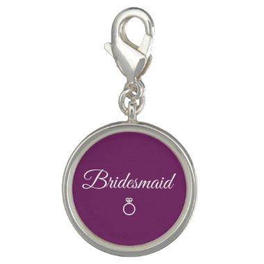 Bridesmaid ring charm