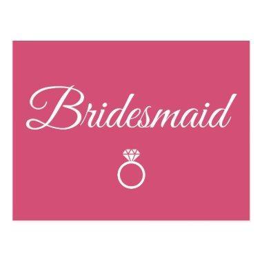 Bridesmaid ring postInvitations