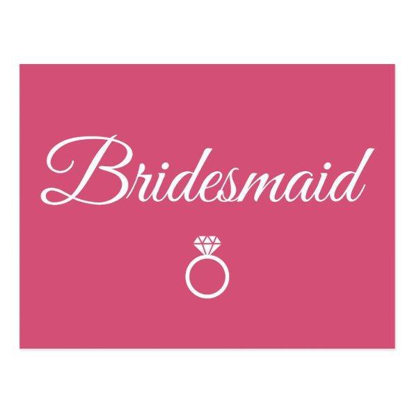 Bridesmaid ring post