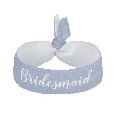 Bridesmaid Something Blue White Wedding Party Elastic Hair Tie