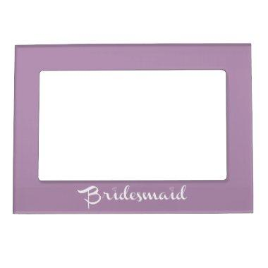 Bridesmaid White On Lilac Magnetic Frame