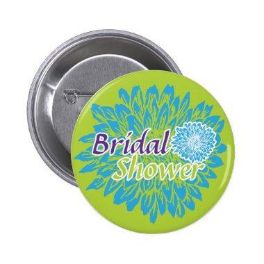 Bright Floral  Pinback Button