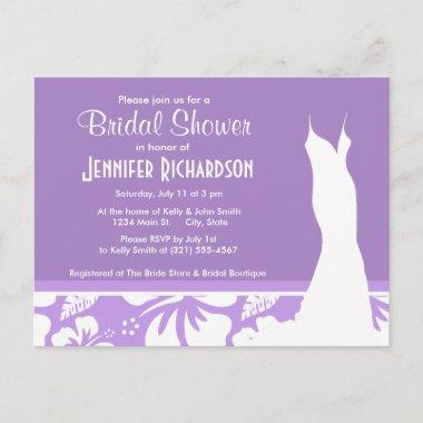 Bright Lavender Tropical Hibiscus; Personalized Invitation Post