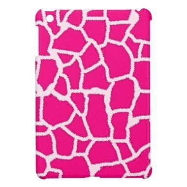 Bright Pink Giraffe Animal Print iPad Mini Cover
