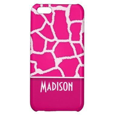 Bright Pink Giraffe Animal Print iPhone 5C Case