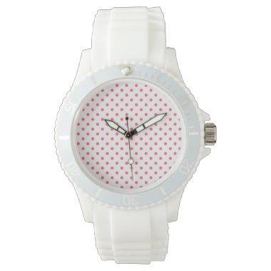 Brink Pink Polka Dots Wrist Watches