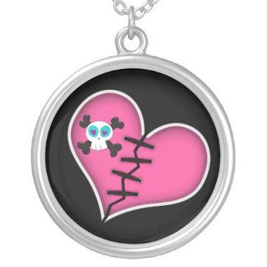 Broken heart skull Necklace