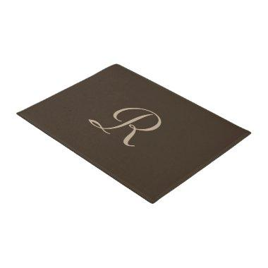 Brown and Tan Monogrammed Door Mat Doormat