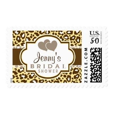 Brown, Yellow Leopard Animal Print  Postage