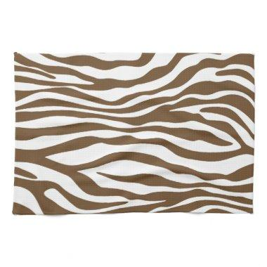 Brown Zebra Animal Print Kitchen Towel
