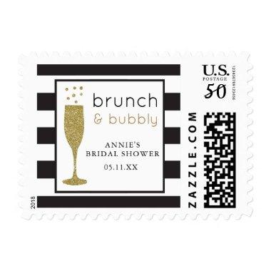 Brunch and Bubbly  Faux Glitter Stamp