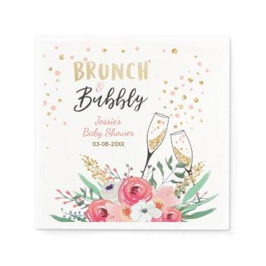 Brunch and Bubbly  Paper Napkins Pink