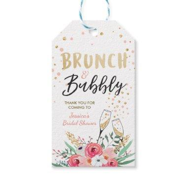 Brunch and bubbly Thank you tags Bridal shower
