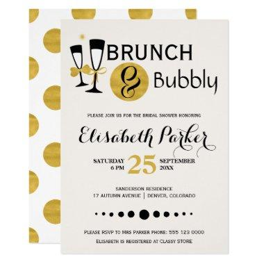 Brunch and bubbly white black gold