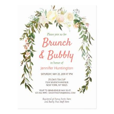 Brunch & Bubbly Bridal Shower Boho Invitation PostInvitations