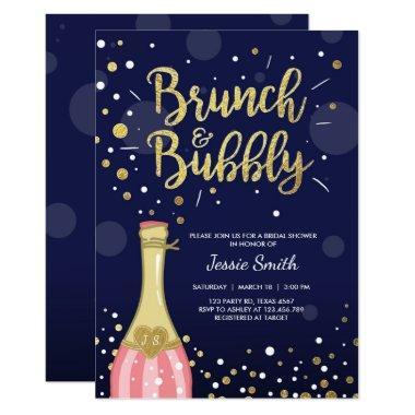 Brunch & Bubbly  Navy Gold