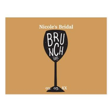BRUNCH Wine Glass ANY COLOR & EVENT Trendy Chic Post
