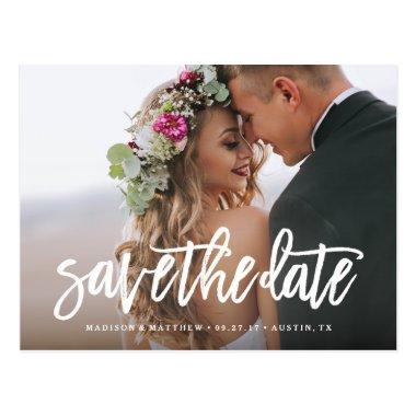 Brushed Save the Date Post