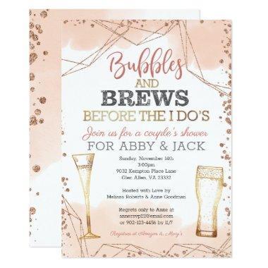 Bubbles and Brews Before the I Do's Shower Invitations