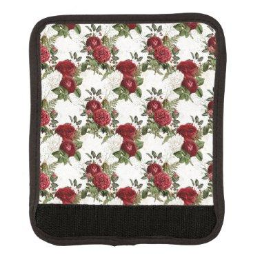 Burgundy Floral Gifts Luggage Handle Wrap