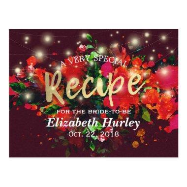 Burgundy Floral String Lights  Recipe Post