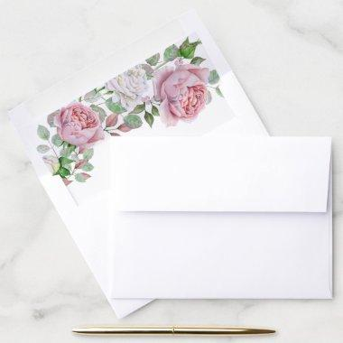 Burgundy Pink Country Rose Envelope Liner