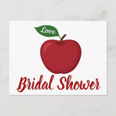 Burgundy Red Bridal Shower Apple Country Wedding Invitation PostInvitations