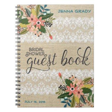 Burlap and Lace  Guest Book