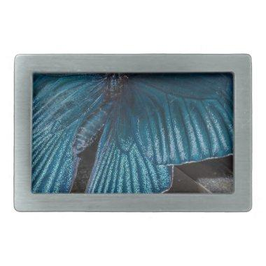 butterfly blue insect flying beautiful wings belt buckle