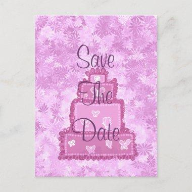 Butterfly Cake Save The Date Announcement Post