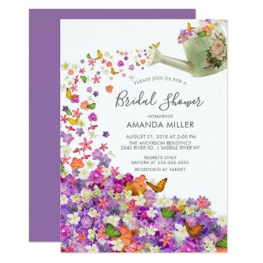 Butterfly Garden Bridal Shower Invitations