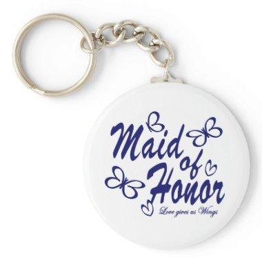 Butterfly/ Maid of Honor Keychain