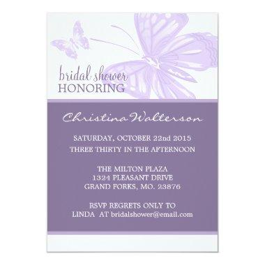 Butterfly Purple  Invites