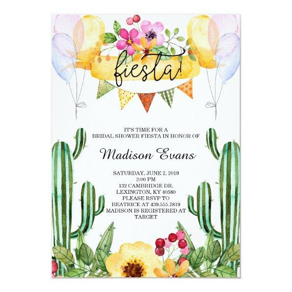 Cactus and Floral  Fiesta