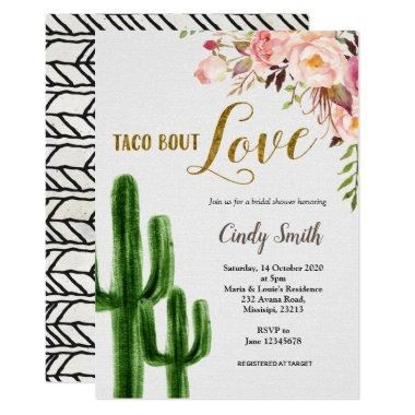 Cactus Taco bout Love Bridal Shower Invitations