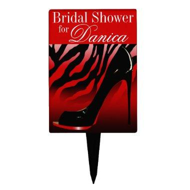 CAKE TOPPER Zebra Stiletto