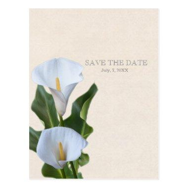Calla Lily Flowers Floral Elegant SAVE THE DATE Post