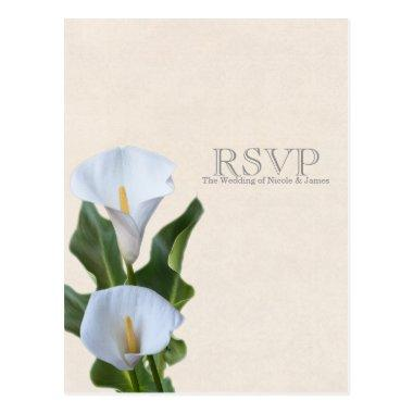 Calla Lily Flowers Floral Elegant Wedding RSVP Post
